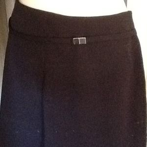 The Limited Skirts - Black A-Line skirt with built in belt