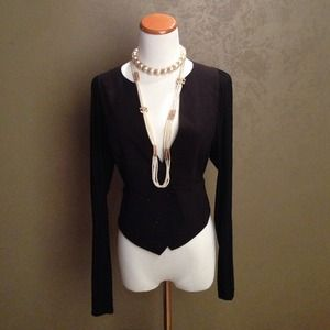 Bcbg maxAzria draped black jacket xs