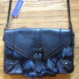 Rebecca Minkoff Bags - 🎉8X HP🎉Rebecca Minkoff Black Fur Clutch Purse