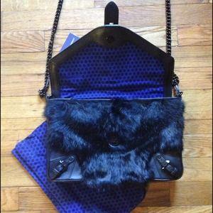 Rebecca Minkoff Bags - 🎉8X HP🎉Rebecca Minkoff Black Fur Clutch Purse 4