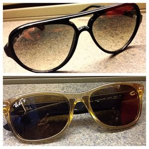 2 pair authentic RayBans