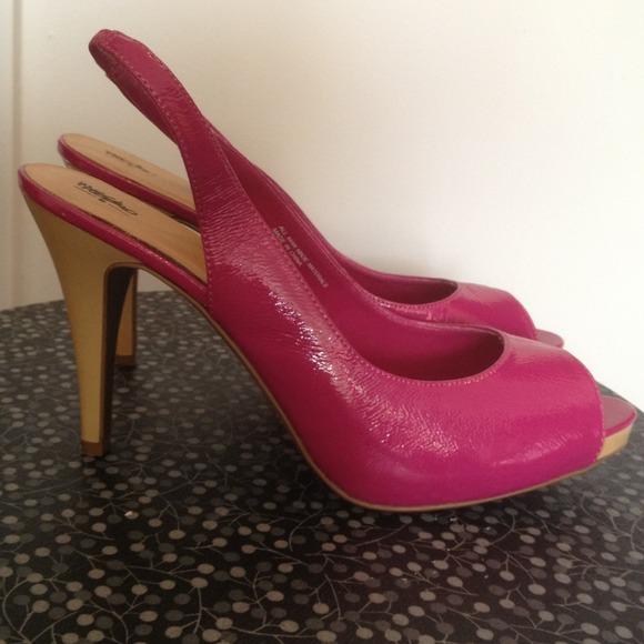 40% off Mossimo Shoes - Mossimo Hot Pink Slingback Peep Toe Heels ...