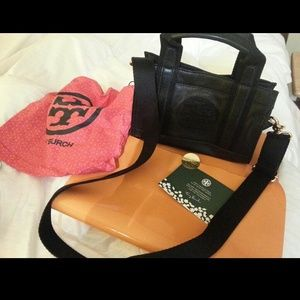 Authentic-Leather Tiny Tory Burch Tote crossbody