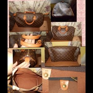 AUTHENTIC LOUIS VUITTON SPEEDY 35 MALLETIER