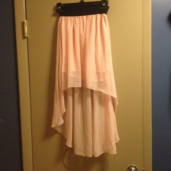 Light Pink High-Low Skirt & 50% off Dresses u0026 Skirts - Light Pink High-Low Skirt from Leonieu0027s ... azcodes.com