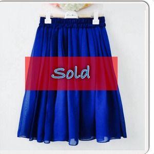 doble layer chiffon short mini skirt