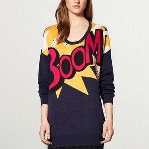 3.1Phillip Lim Sweater Dress in BOOM Print