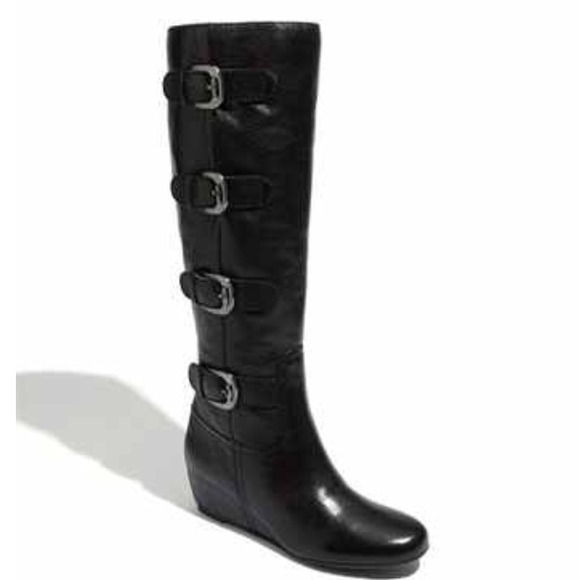 60 franco sarto boots black wedge boot from