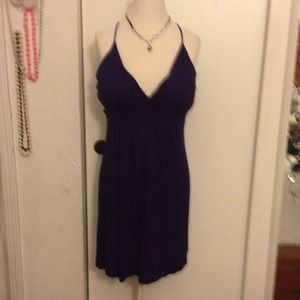 Purple dress stretchy the necklace not include