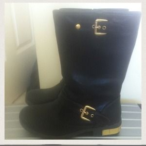 🌟🎉HOST PICK🎉🌟 Esprit black and gold boots