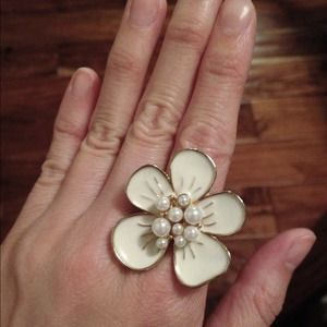 Plumeria Cocktail Ring