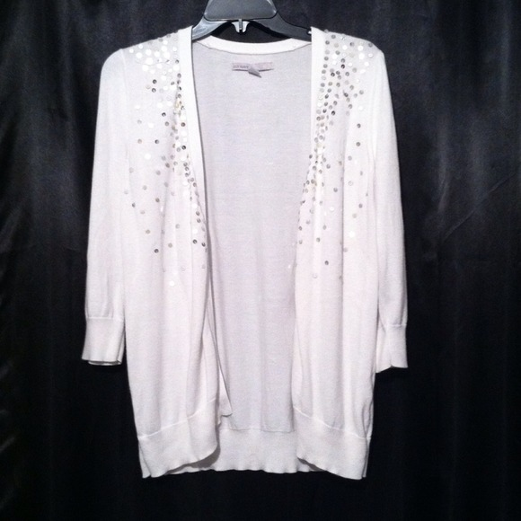 Old Navy - 🔴SOLD🔴 White sequin embellished cardigan! from ✨posh ...