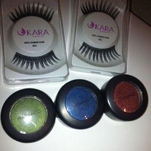 MAC eyeshadows/lashes