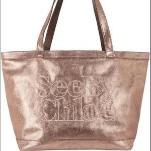 See by Chloe rose gold bag