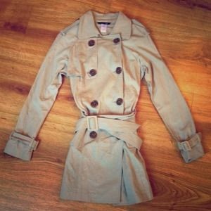 Ellison Tan Canvas Trench