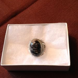 Jewelry - Snowflake Obsidian Ring