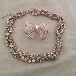Bundle of necklace and bow ring