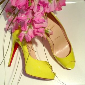 Christian Louboutin Shoes - 🍃💗 Yellow Loubies, PRIVE 💖F. on Posh Instagram