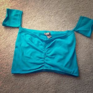 0fc29c89a5c955 Tops - Turquoise crop top