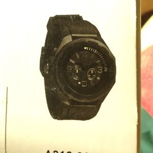 Nixon steelcat all black men's watch