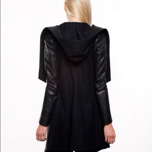 20% off Skingraft Designs Outerwear - Hooded Black Wool Coat- by ...