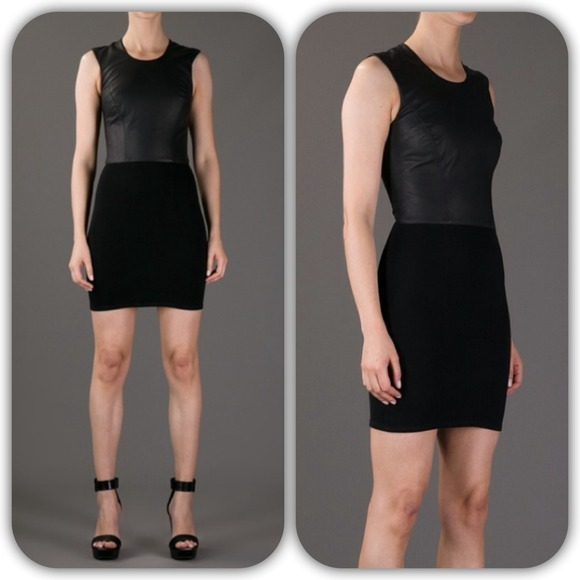 Helmut Lang Dresses & Skirts - ⚡️HELMUT LANG gala sheath dress with leather S⚡️