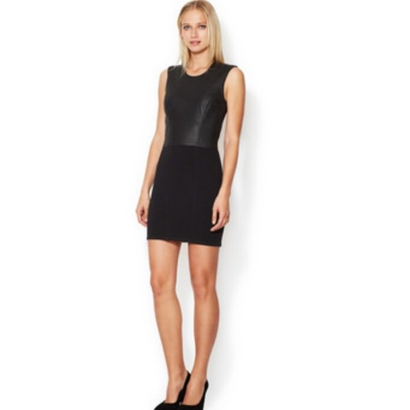 Helmut Lang Dresses - ⚡️HELMUT LANG gala sheath dress with leather S⚡️