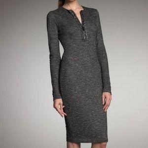 Alexander McQueen Gray Sheath Dress 8US/42 IT NWT