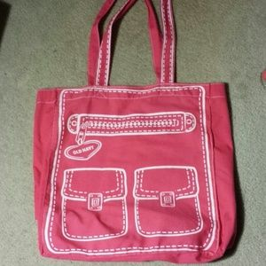 Host pick!  Pink old navy canvas bag