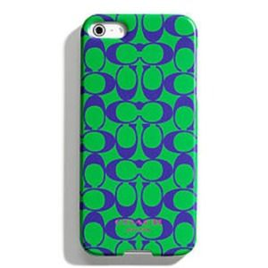 🎉Sale🎉Coach Signature C Green iPhone 5 Case