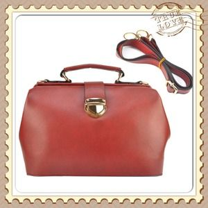 Handbags - Red Vintage Doctor Satchel. Very Chic!