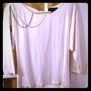 Isabel Lu cream top with chain detail