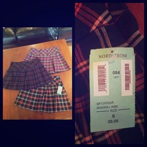 Nordstrom plaid mini skirts