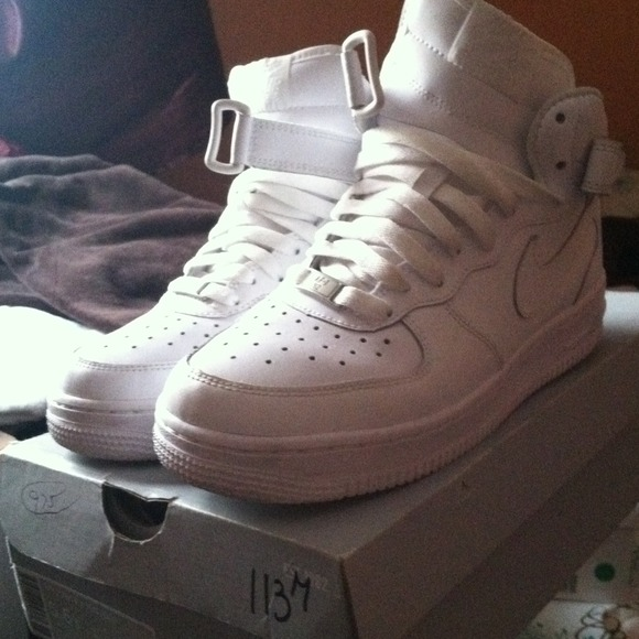 white nike air force high tops