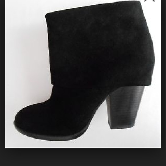 67% off Vince Camuto Boots - Vince Camuto black fold over ankle ...