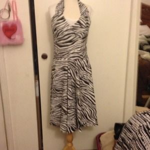 Print zebra dress