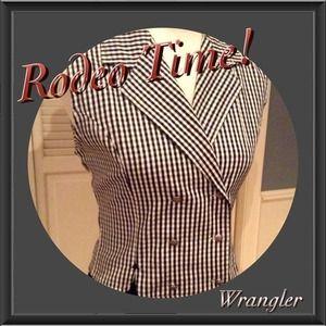 Wrangler Tops - 🌻Vintage B/W Shirt Vest by WRANGLER!🌻