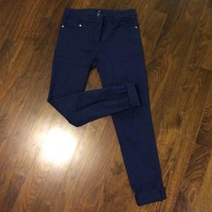 H&M navy blue slim fit pant