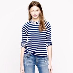 J.crew retail liberty collar merino stripe sweater