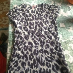 Sweet Pea Animal print cap sleeve