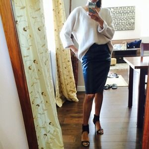 Dresses & Skirts - Vintage Leather Pencil Skirt