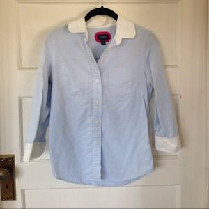 American Eagle Outfitters Tops - Light blue & white button up blouse.