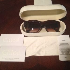 Chloe Brown Sunglasses w/ authenticity (worn 1x!)