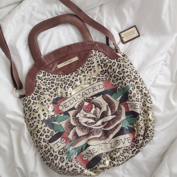 5d3bb7dae5 Ed Hardy Handbags - Ed Hardy Leopard Tattoo Bag Purse