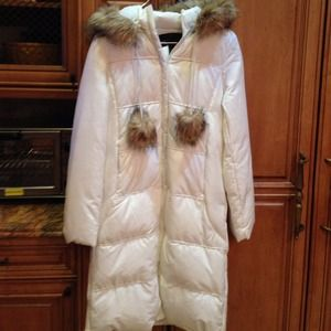Moda International Long Quilted Puffer Coat NWT S