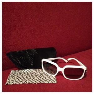 **Bundled** NWOT Versace white sunglasses