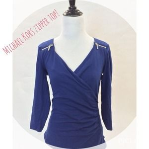 Michael Kors Tops - Michael Kors modern zipper top!
