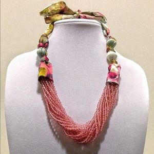 Anthropologie floral beaded necklace