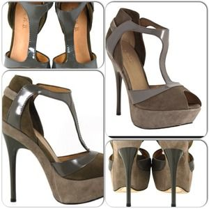 3X HOST PICK! L.A.M.B. PEPPA HEELS GREY/TAUPE 8