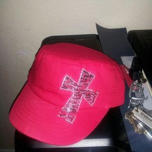 Red army distressed hat